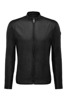 'Joker' | Slim Fit, Nappa Leather Jacket, Black