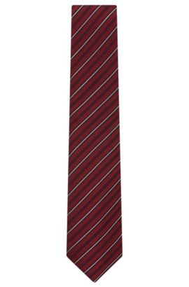 'Tie 7.5 cm'   Regular, Jacquard Silk Wool Tie, Dark Purple