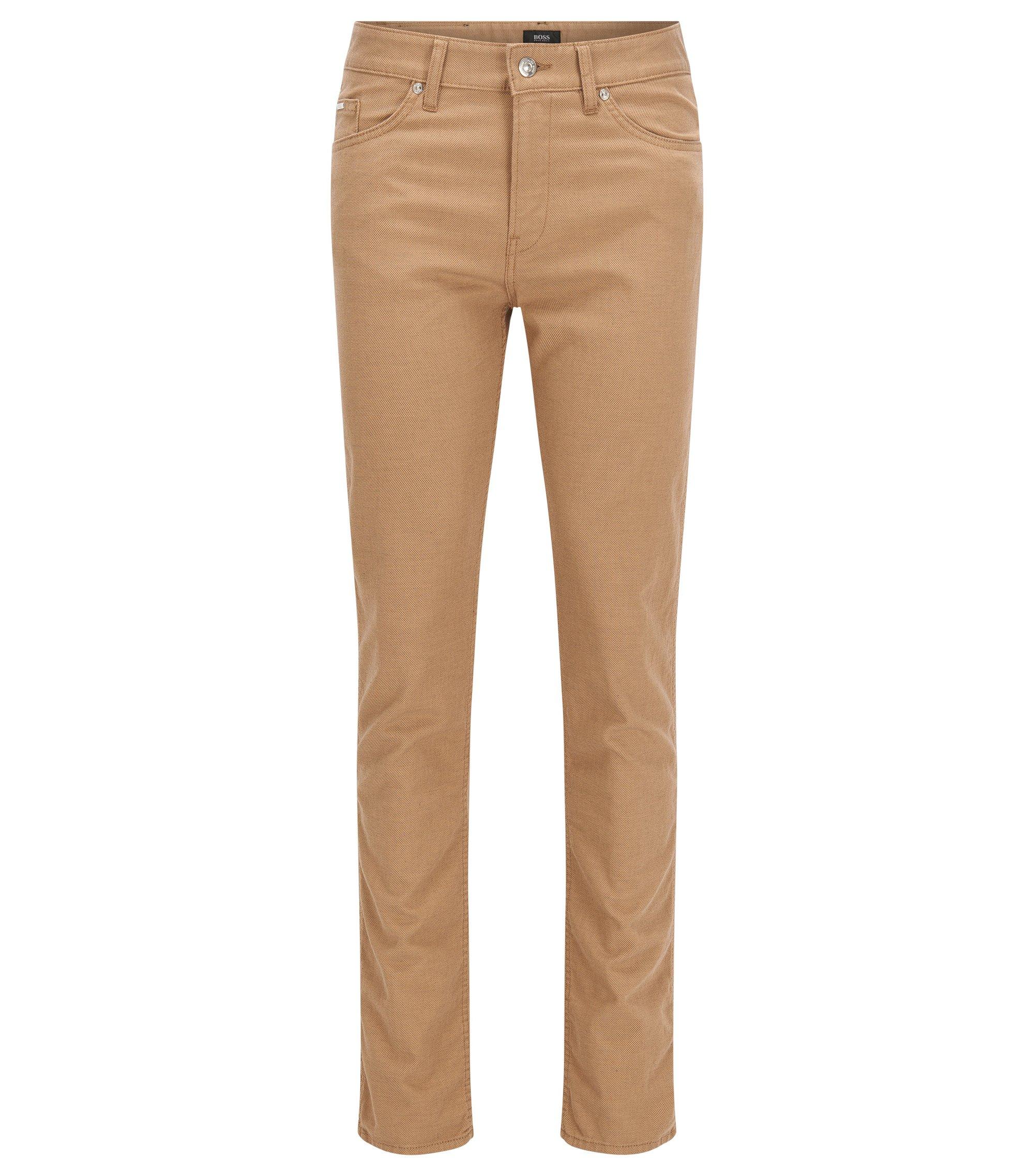 10 oz Stretch Cotton Blend Pants, Slim Fit | Delaware, Beige