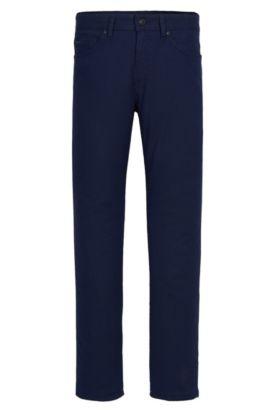 10 oz Stretch Cotton Blend Pants, Slim Fit | Delaware, Dark Blue