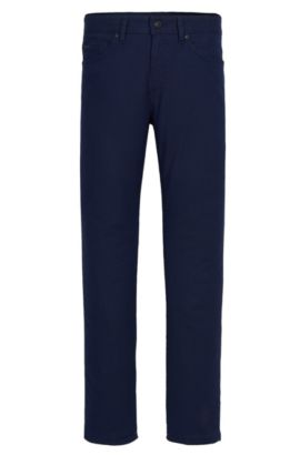 10 oz Stretch Cotton Blend Pants, Slim Fit | Delaware, Dark Blue