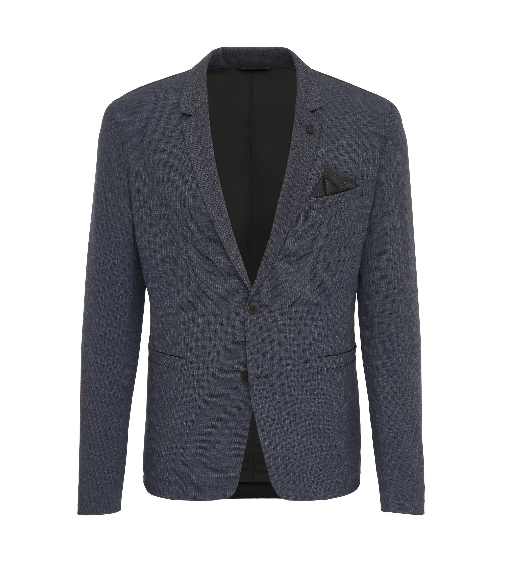 Stretch Blend Sport Coat, Slim Fit | Brandon BS, Dark Blue