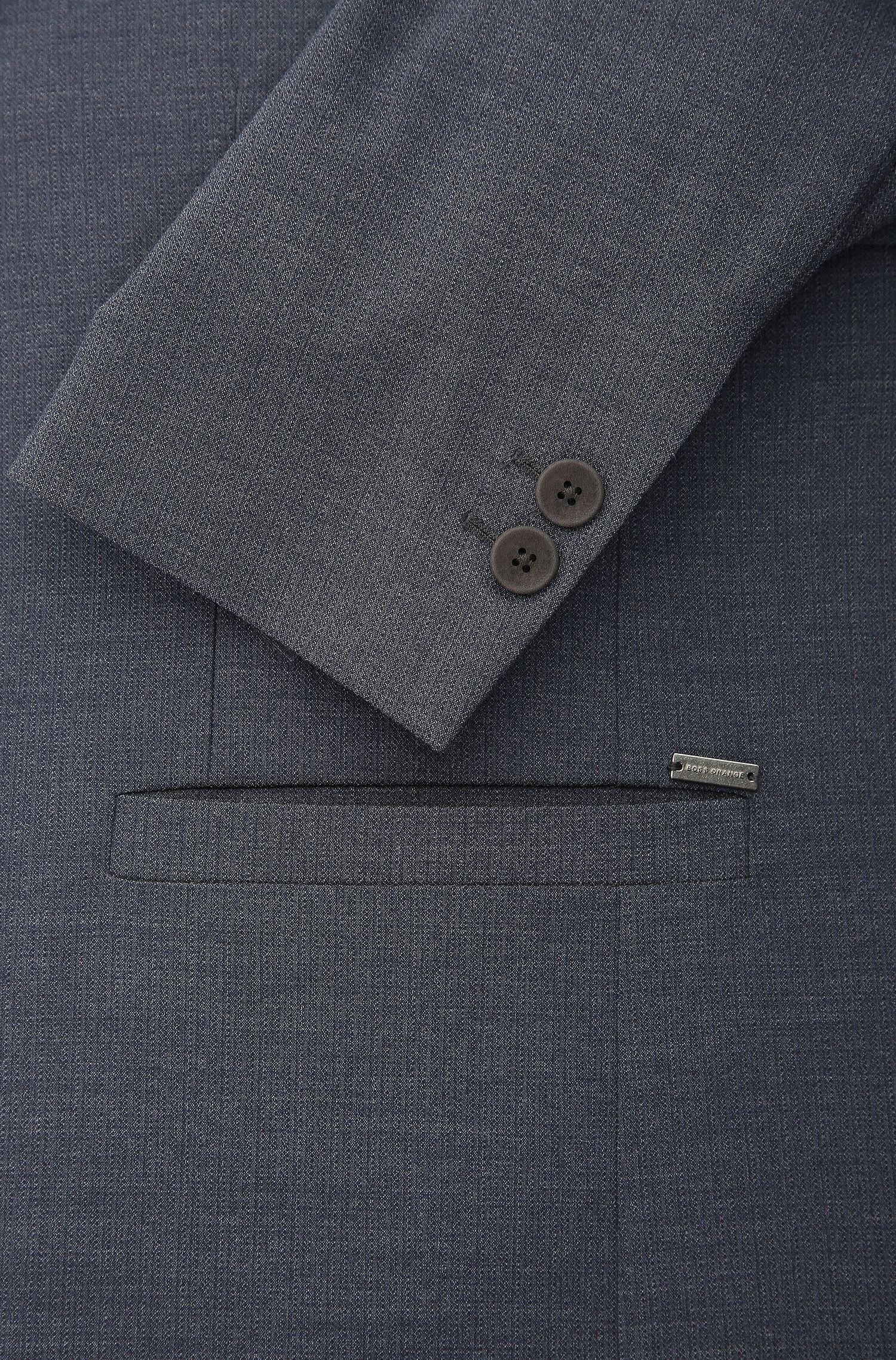 Stretch Blend Sport Coat, Slim Fit | Brandon BS, Dark Blue