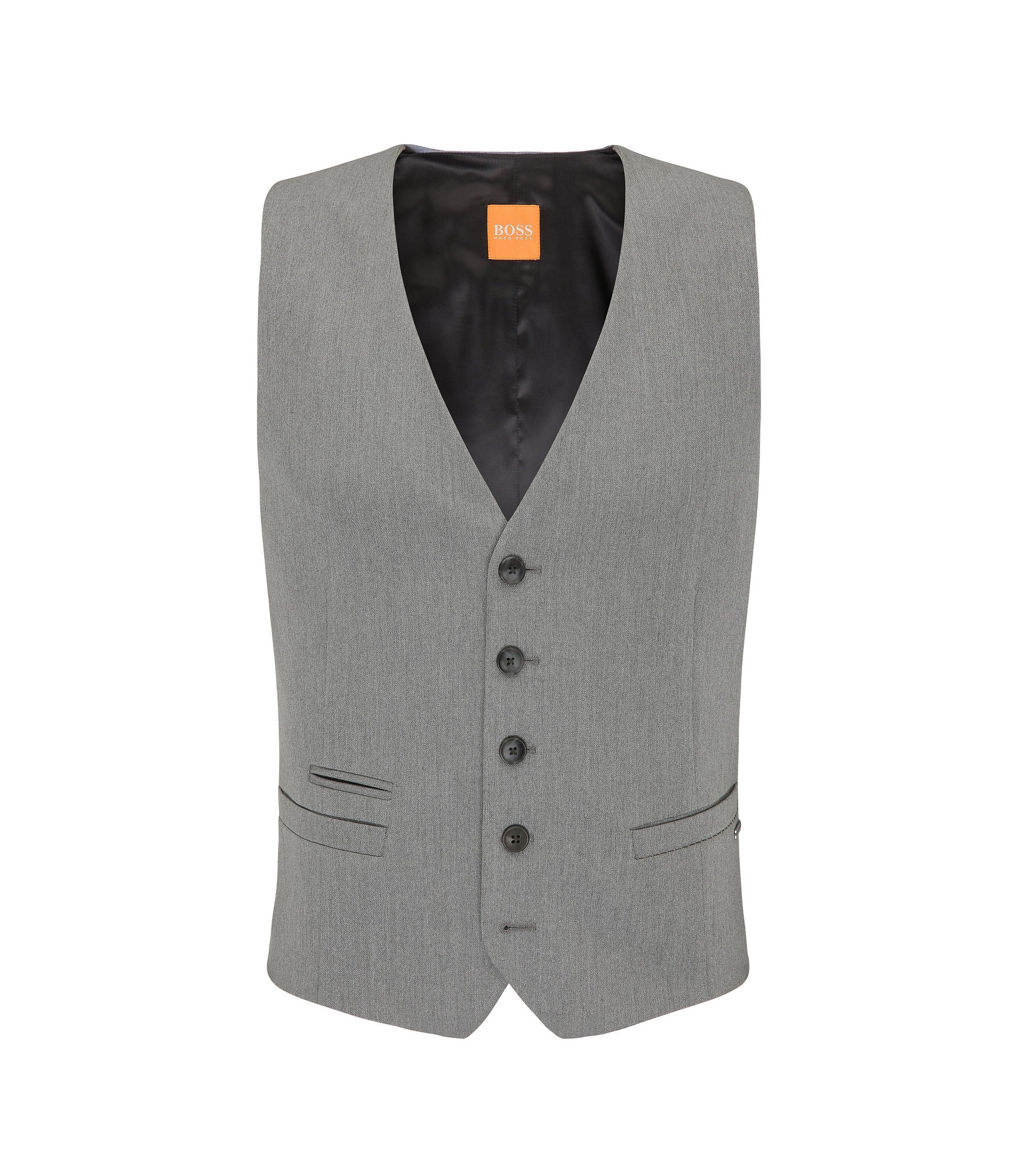 Stretch Twill Blend Vest | Batson BS, Light Grey