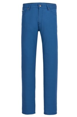 Stretch Cotton Pants, Regular Fit | Maine, Open Blue