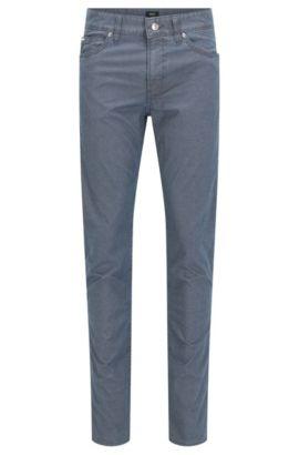 'Delaware' | Slim Fit, Geometric Stretch Cotton Jeans, Dark Blue