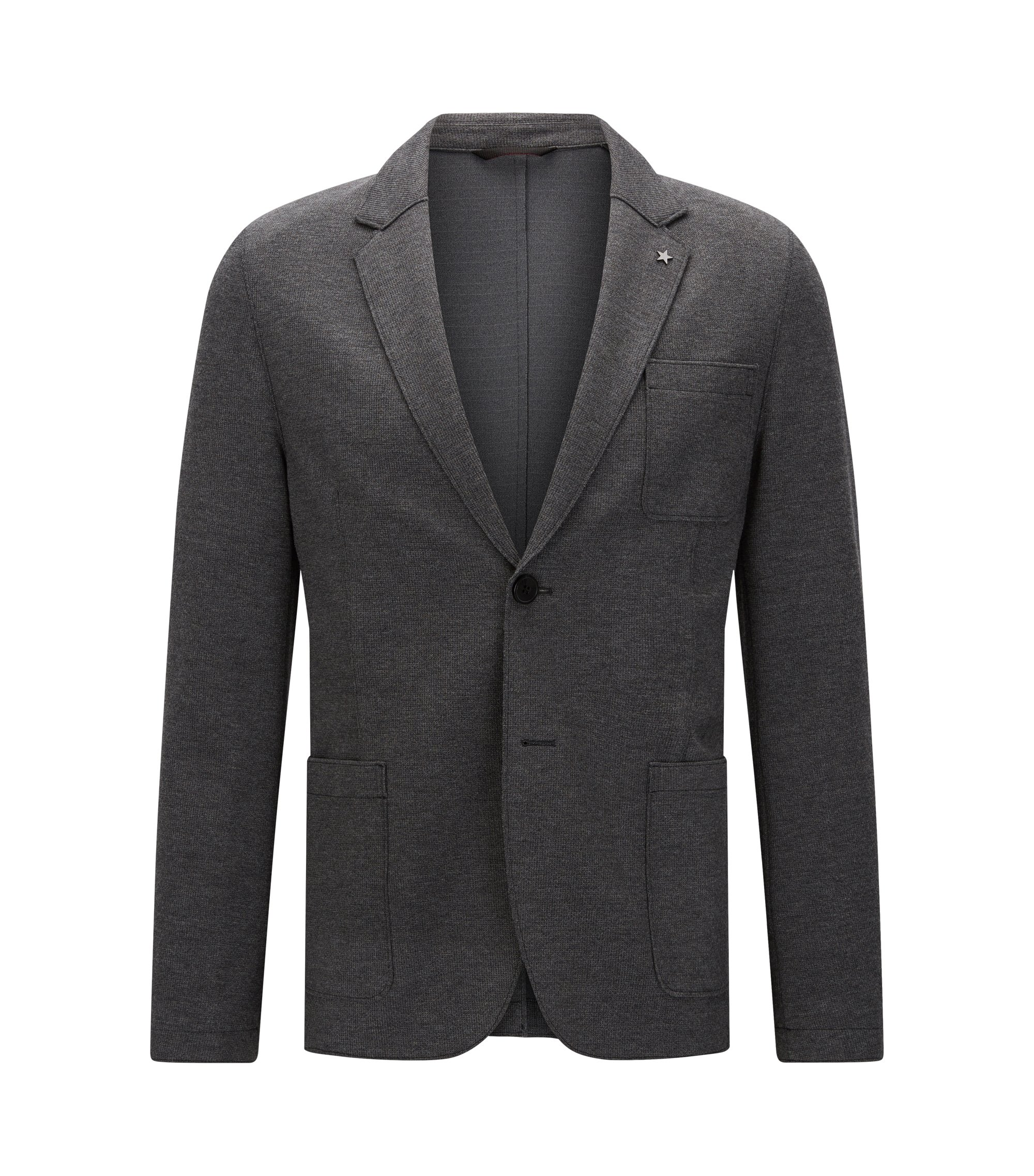 Stretch Blend Sport Coat, Slim Fit | Agalton, Grey