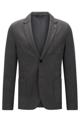 'Agalton' | Slim Fit, Patch Pocket Stretch Blend Sport Coat , Grey