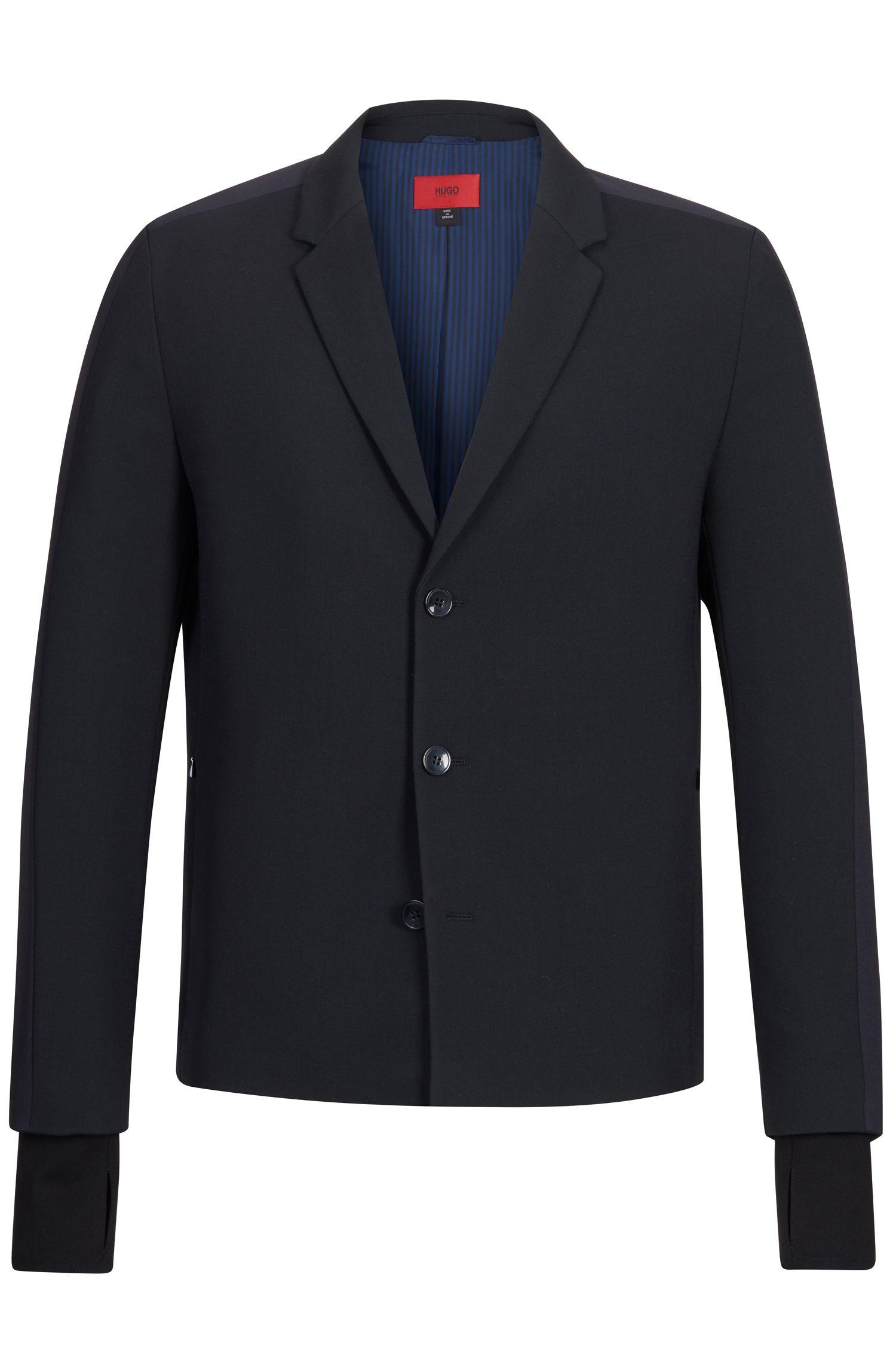 Virgin Wool Blend Sport Coat, Slim Fit | Alekto