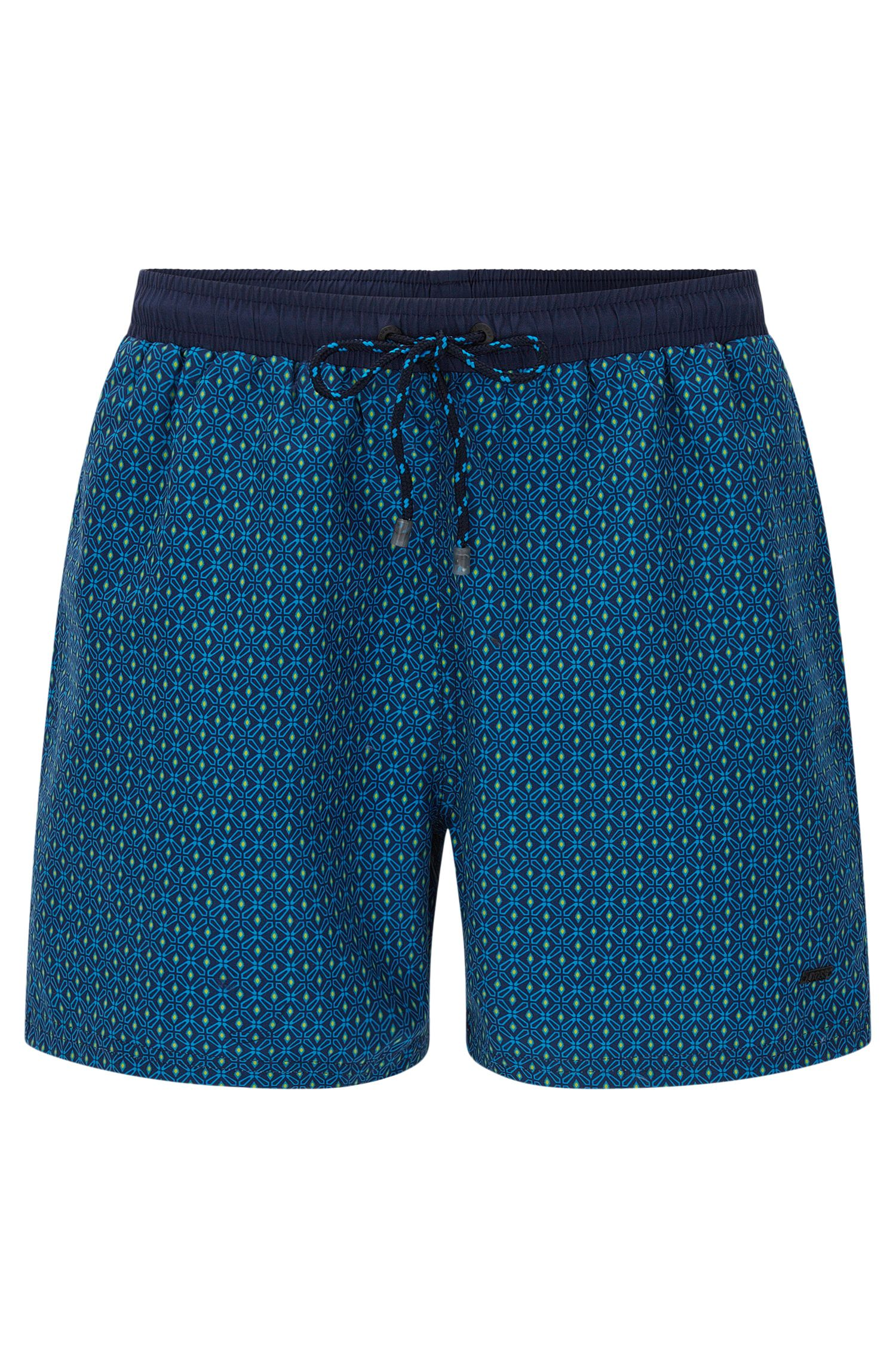 'Piranha' | Geometric Quick Dry Swim Trunks