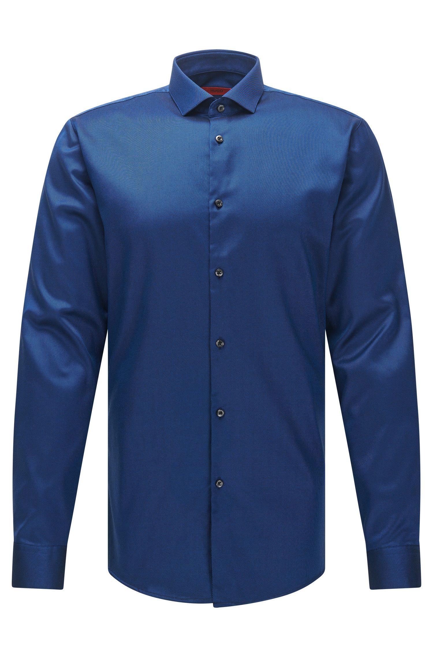 Easy-Iron Twill Cotton Dress Shirt, Extra-Slim Fit   Erondo