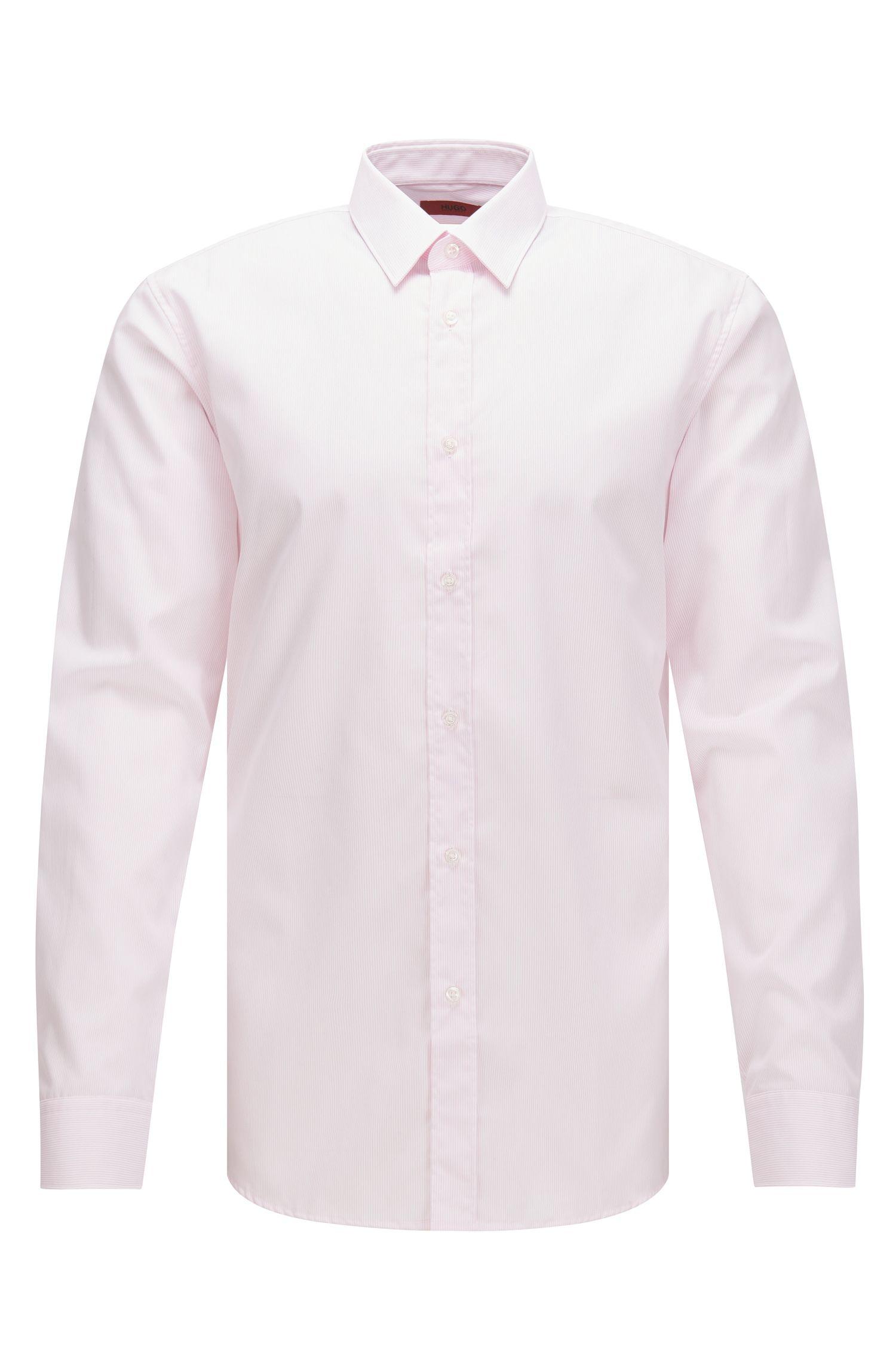 Striped Easy Iron Cotton Dress Shirt, Slim Fit | Elisha