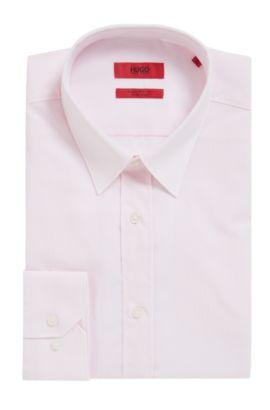 'Elisha' | Slim Fit, Striped Easy Iron Cotton Dress Shirt, light pink