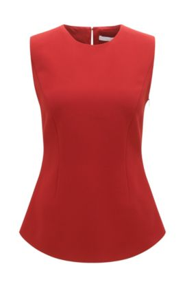 'Ilania' | Pleated Top, Red