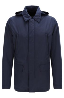 'Case' | Water-Repellent Nylon Jacket, Dark Blue