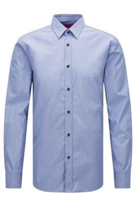 Egyptian Cotton Dress Shirt, Extra-Slim Fit | Elisha, Dark Blue