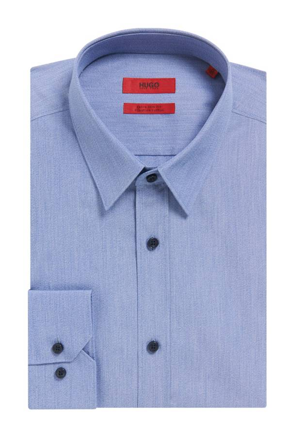 Egyptian cotton dress shirt extra slim fit elisha for Extra slim dress shirt