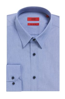 Egyptian Cotton Dress Shirt, Extra-Slim Fit | Elisha, Dark Blue
