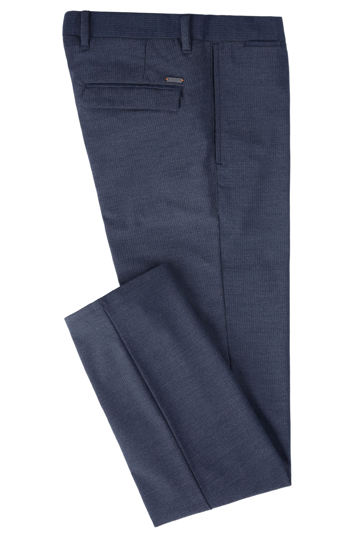 Viscose Blend Pant, Slim Fit | Slim