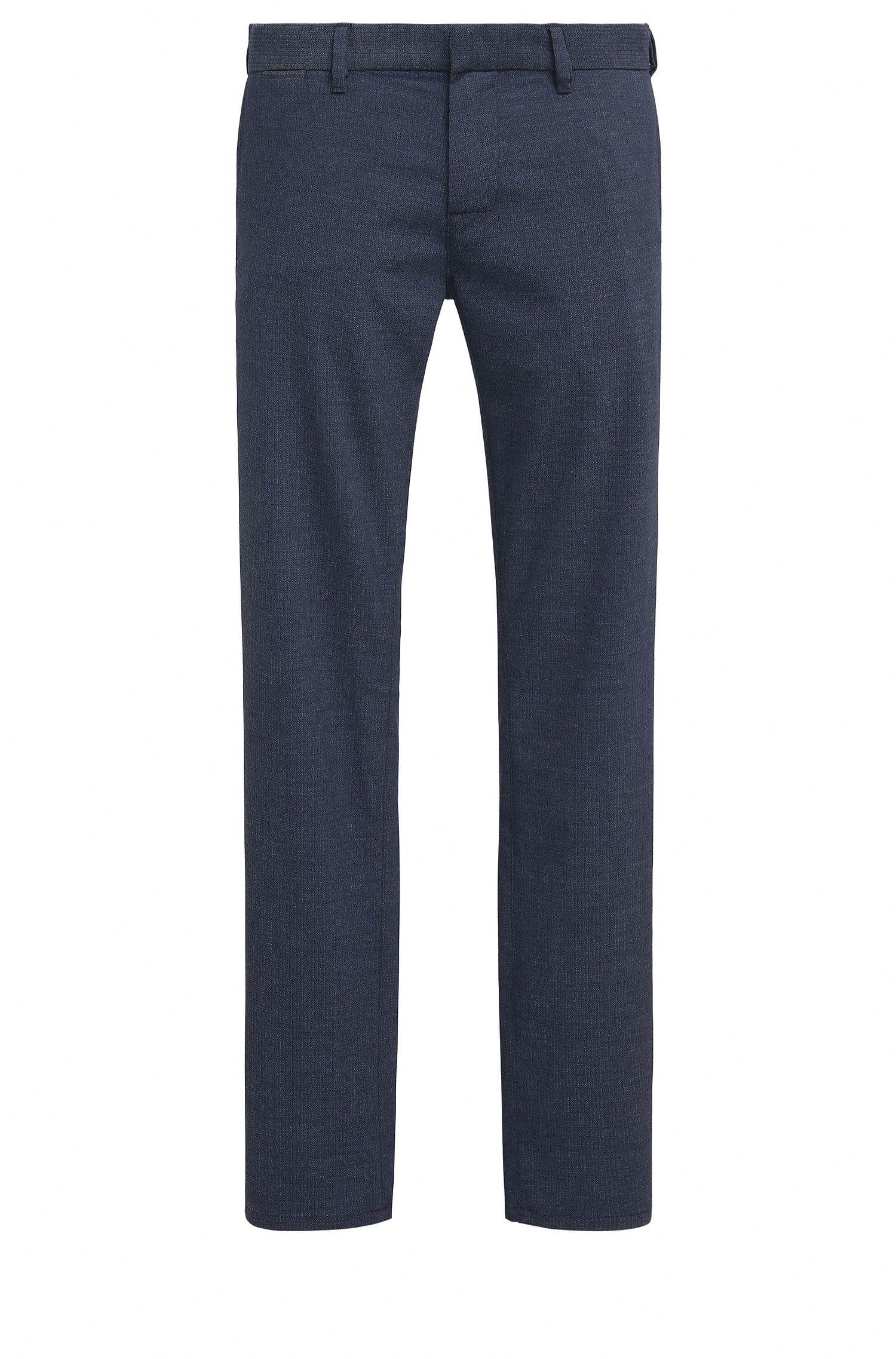 Viscose Blend Pant, Slim Fit | Slim, Dark Blue