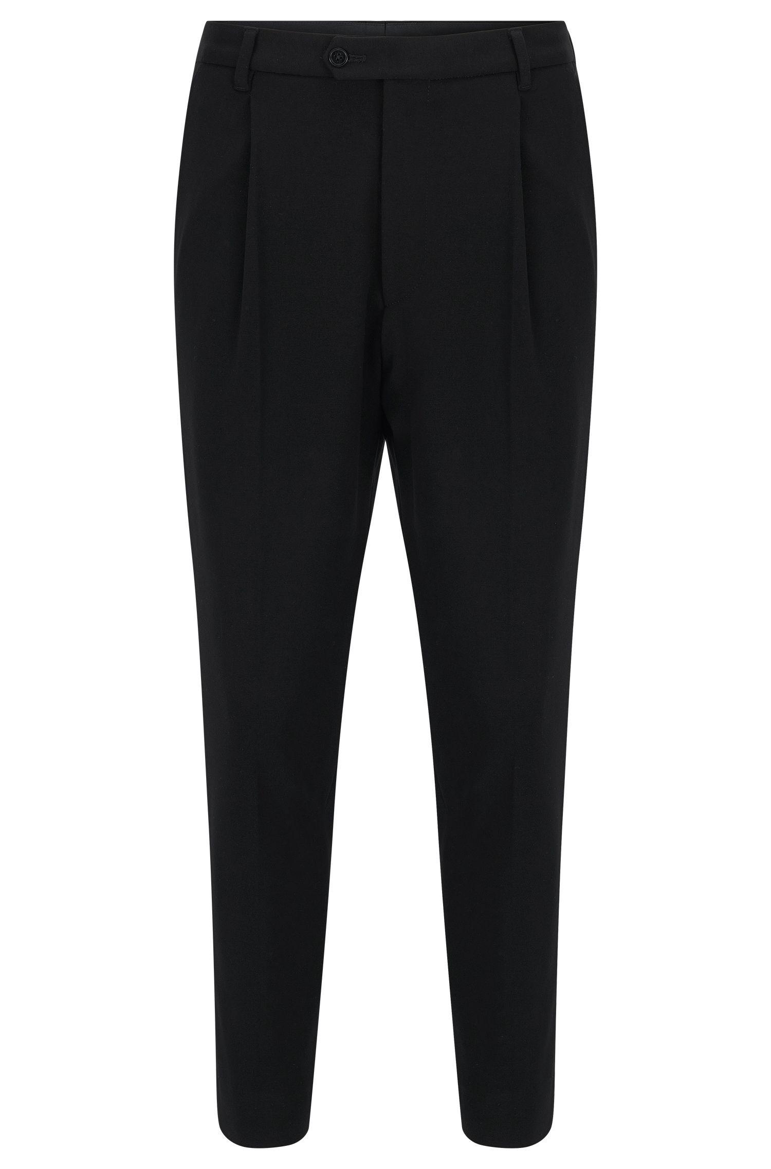 Pleated Crop Pants | Hegin