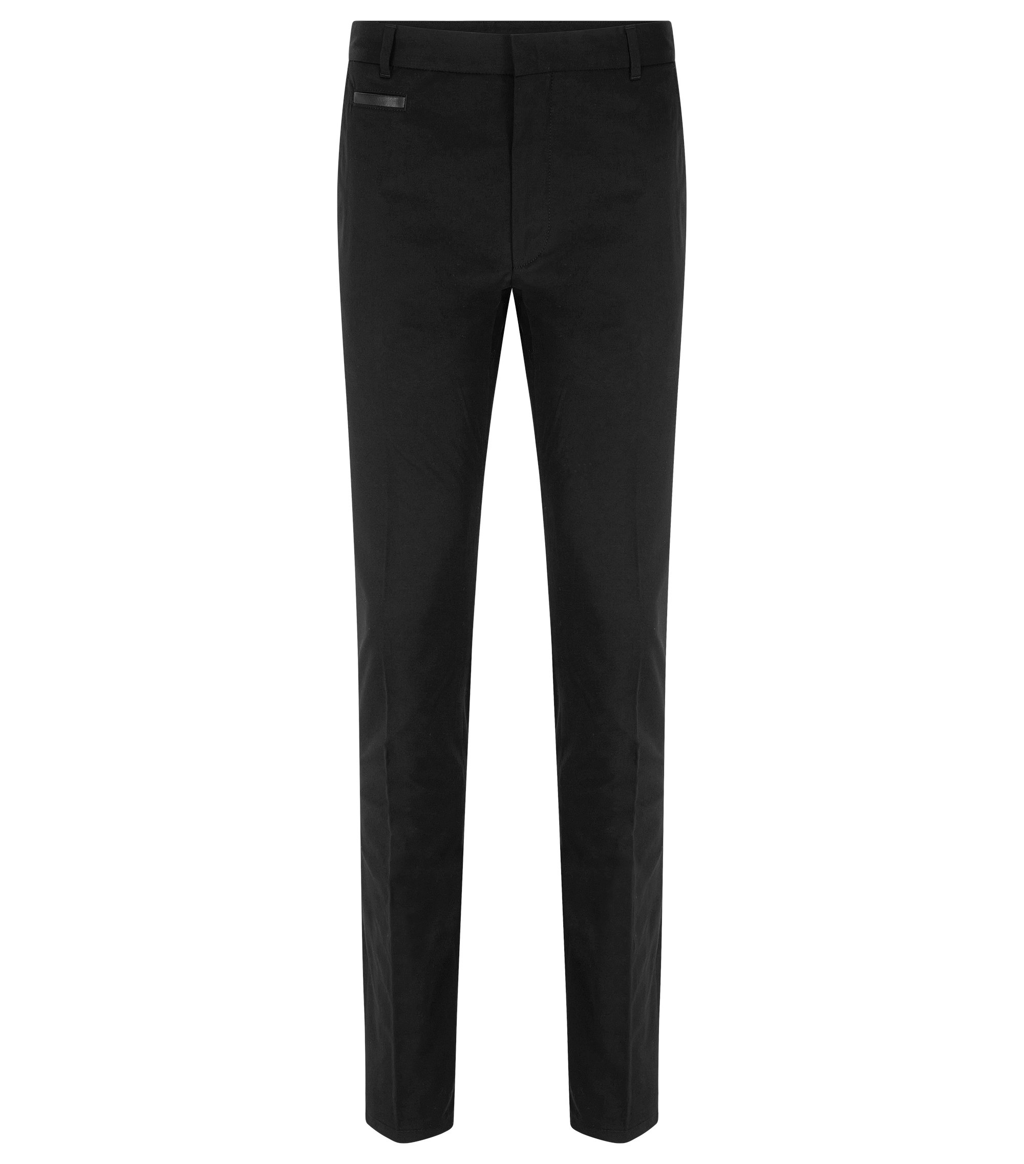 Stretch Cotton Pant, Extra Slim Fit | Harlyn, Black