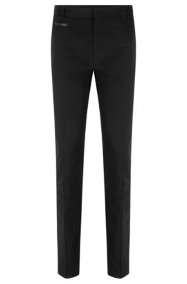 'Harlyn' | Extra-Slim Fit, Stretch Cotton Pant, Black