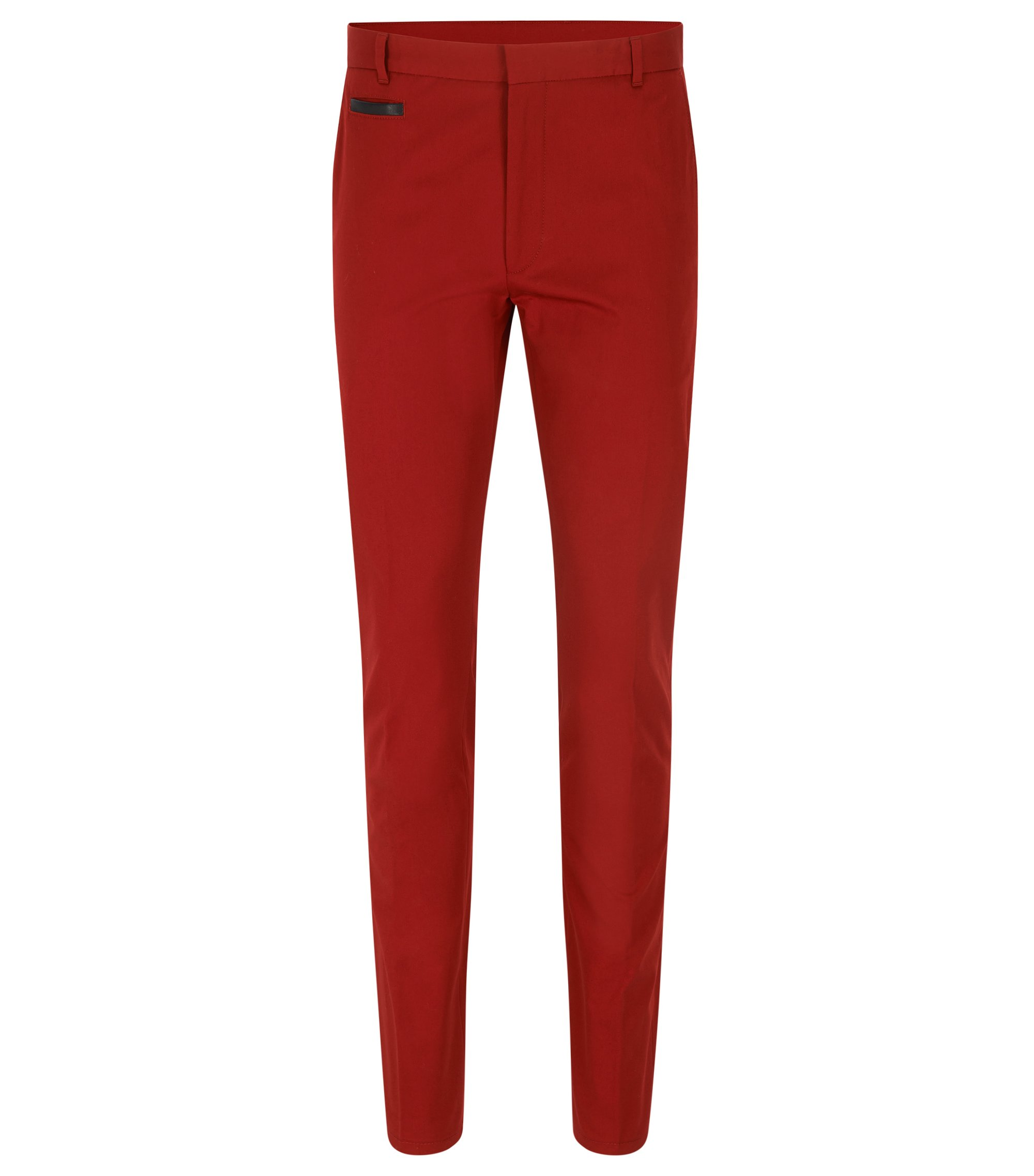 Stretch Cotton Pant, Extra Slim Fit | Harlyn, Dark Red