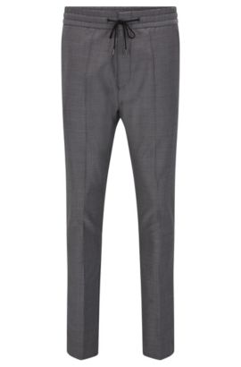 Virgin Wool Pant, Tapered Fit | Himesh, Grey