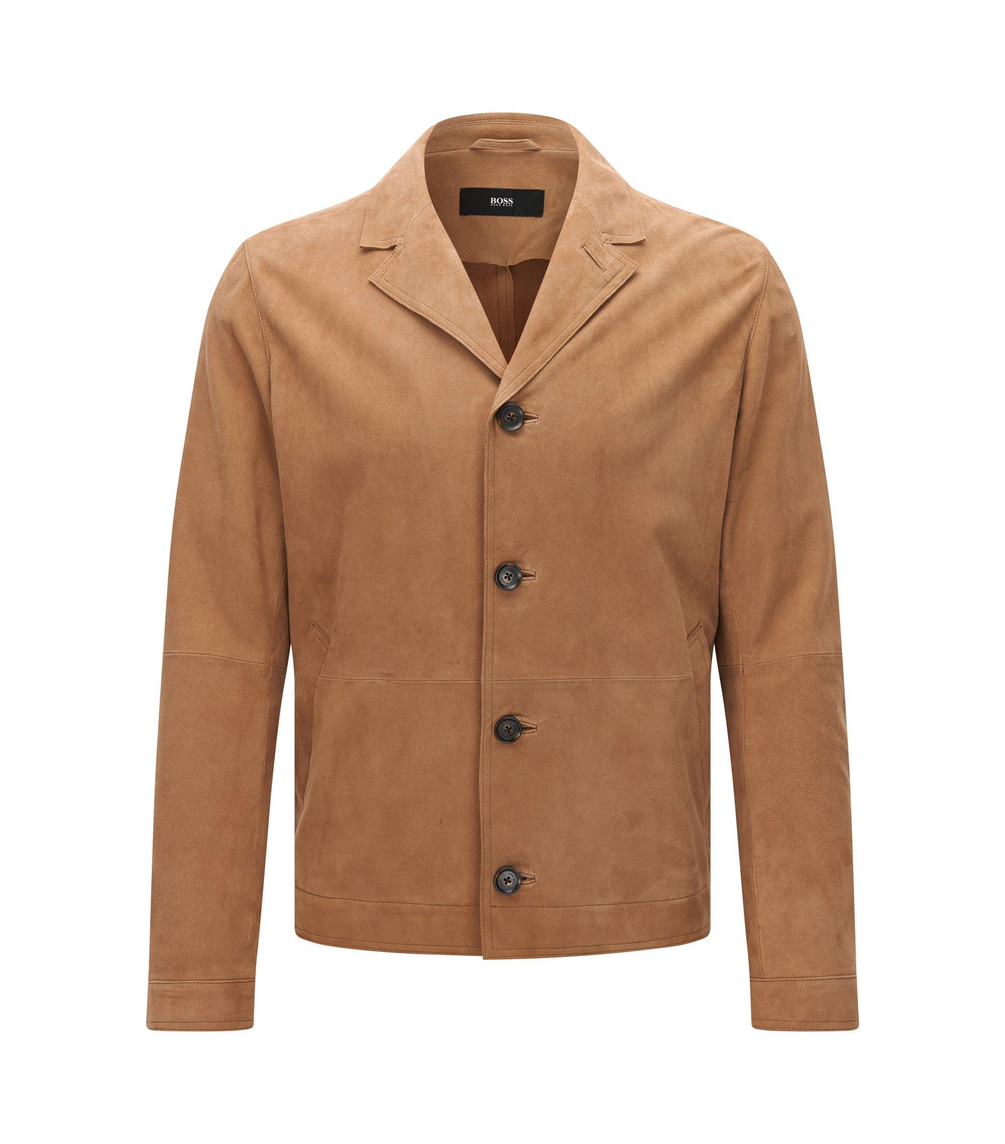 Suede Jacket | Avisto, Beige