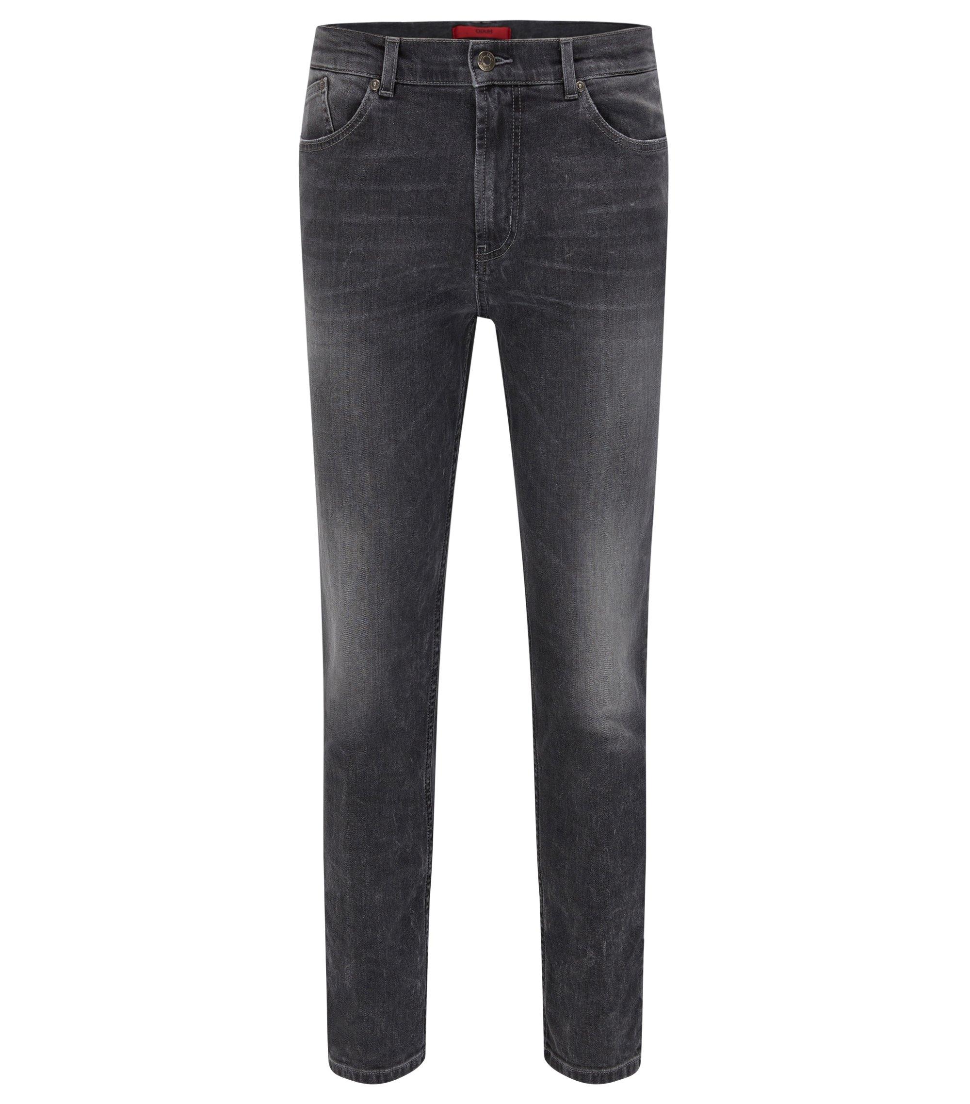 9.5 oz Stretch Cotton Jeans, Slim Fit | Hugo 332, Grey