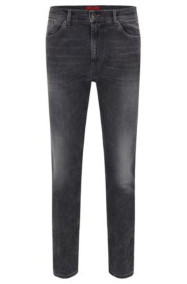 9.5 oz Stretch Cotton Jeans, Slim Fit | Hugo 332, Grey