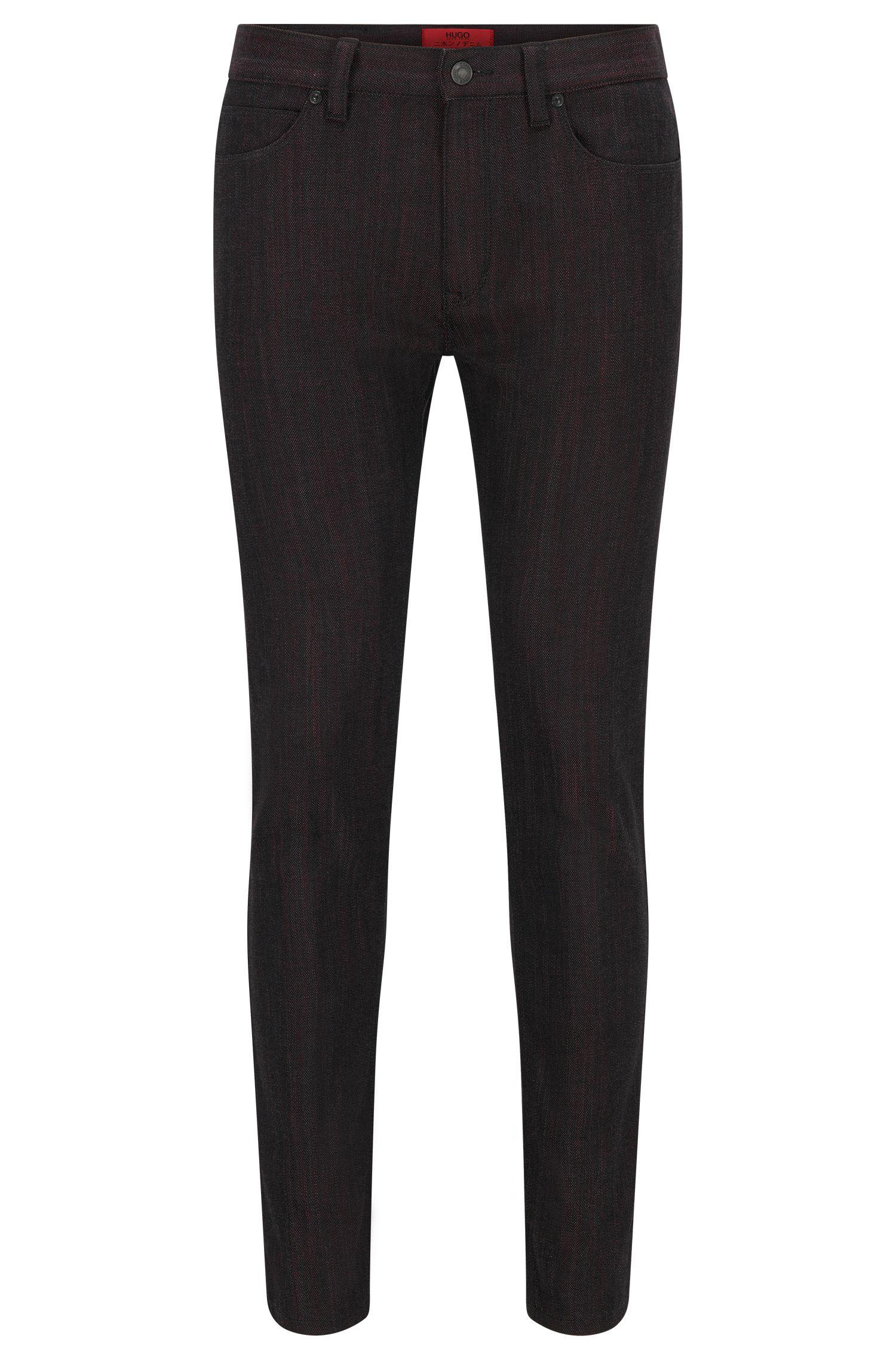 10 oz Japanese Stretch Cotton Jeans, Skinny Fit | Hugo 734