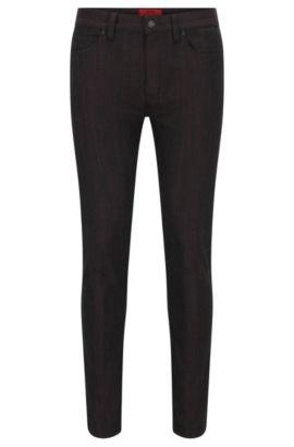 10 oz Japanese Stretch Cotton Jeans, Skinny Fit | Hugo 734, Black