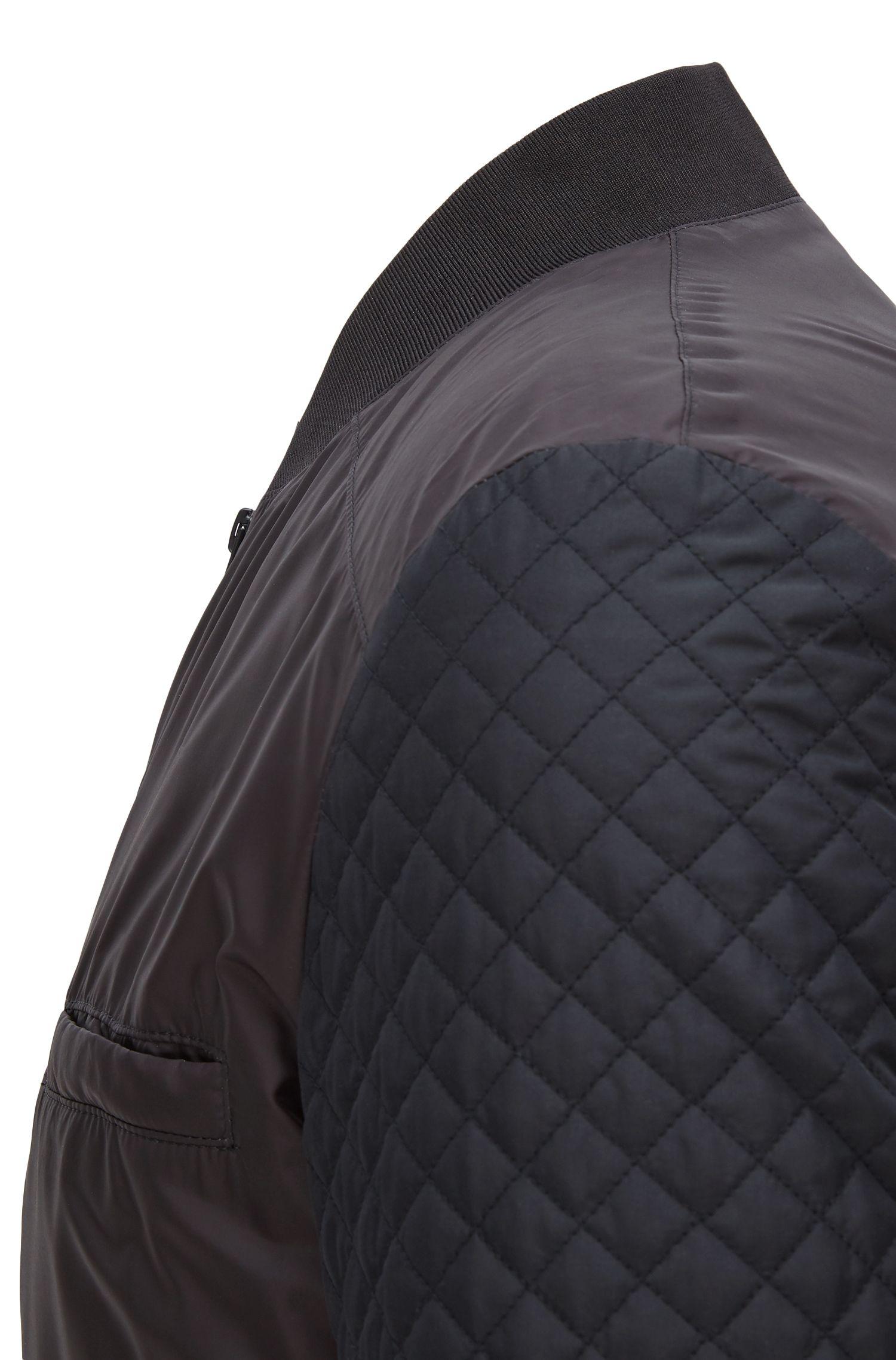Quilted Nylon Bomber Jacket | Belko Print