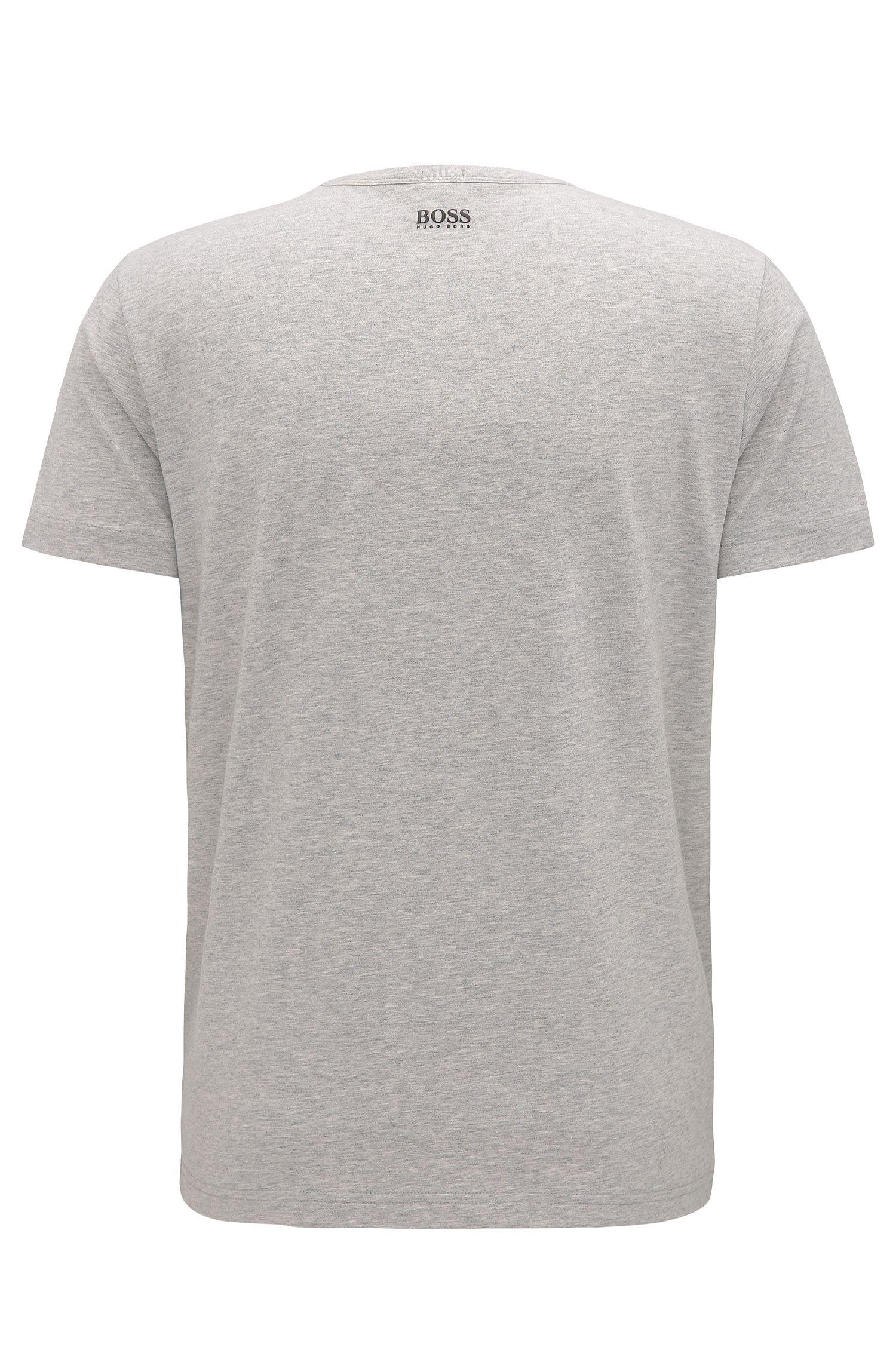 Stretch Cotton Jersey Graphic T-Shirt | Tee, Light Grey