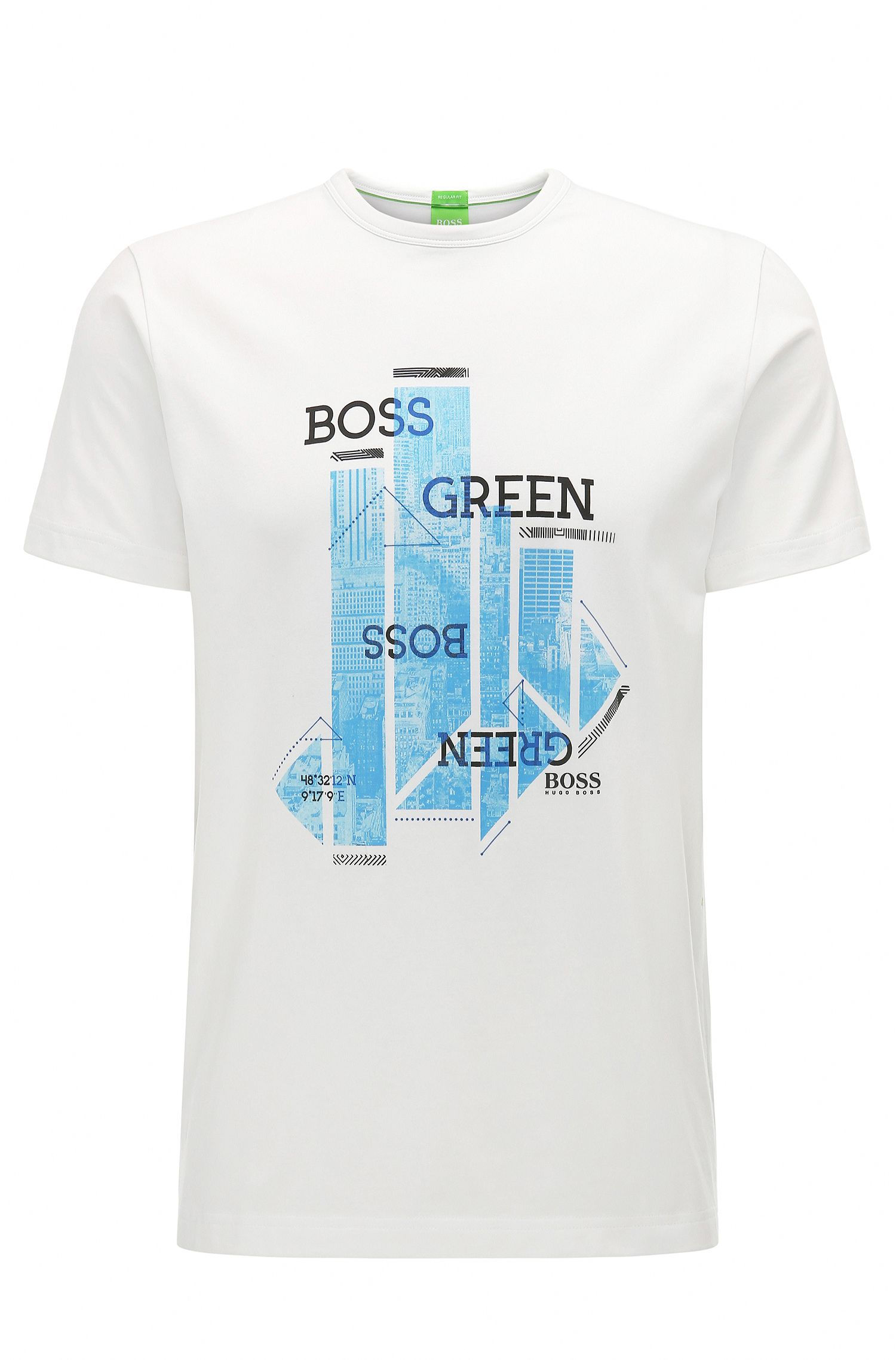 Stretch Cotton Jersey Graphic T-Shirt | Tee