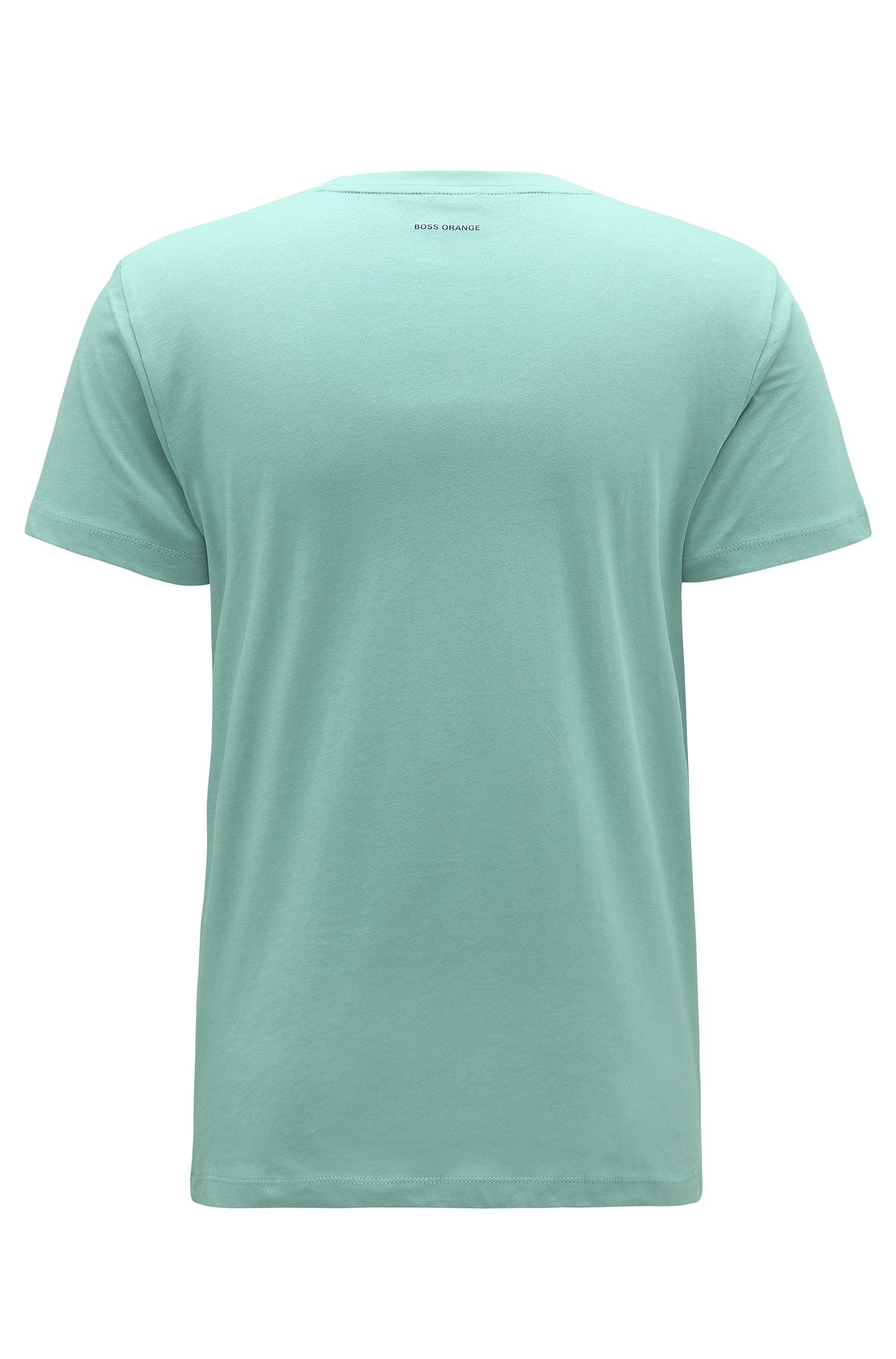 Cotton Graphic T-Shirt | Turbulence, Turquoise
