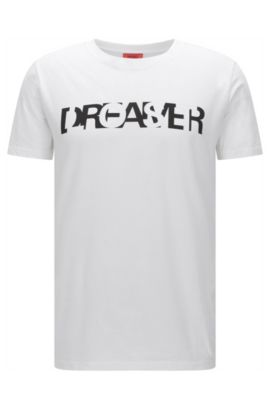 'Dreamer' | Cotton Graphic T-Shirt, White