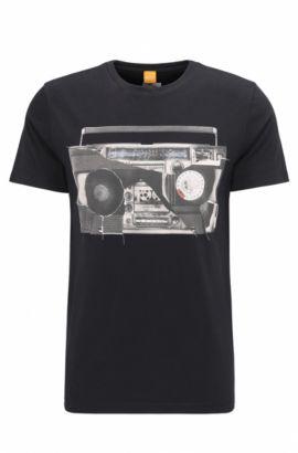 Cotton Graphic T-Shirt   Turbulence, Black