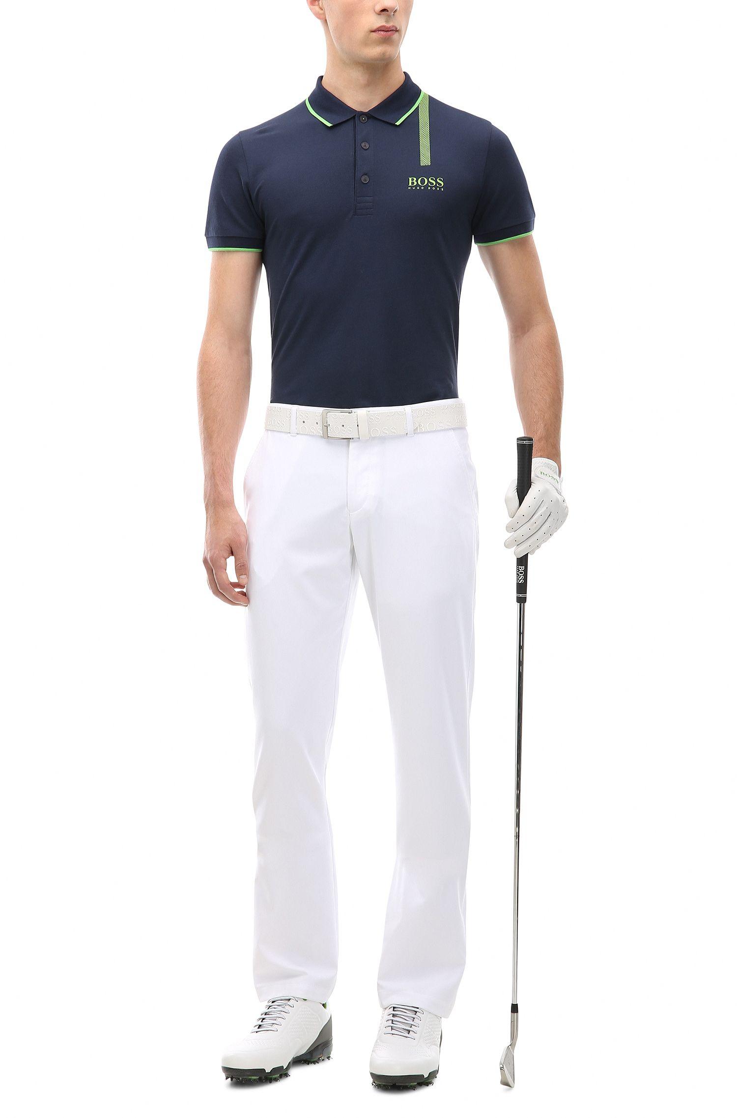 Stretch Cotton Graphic Polo, Slim Fit   Paule Pro