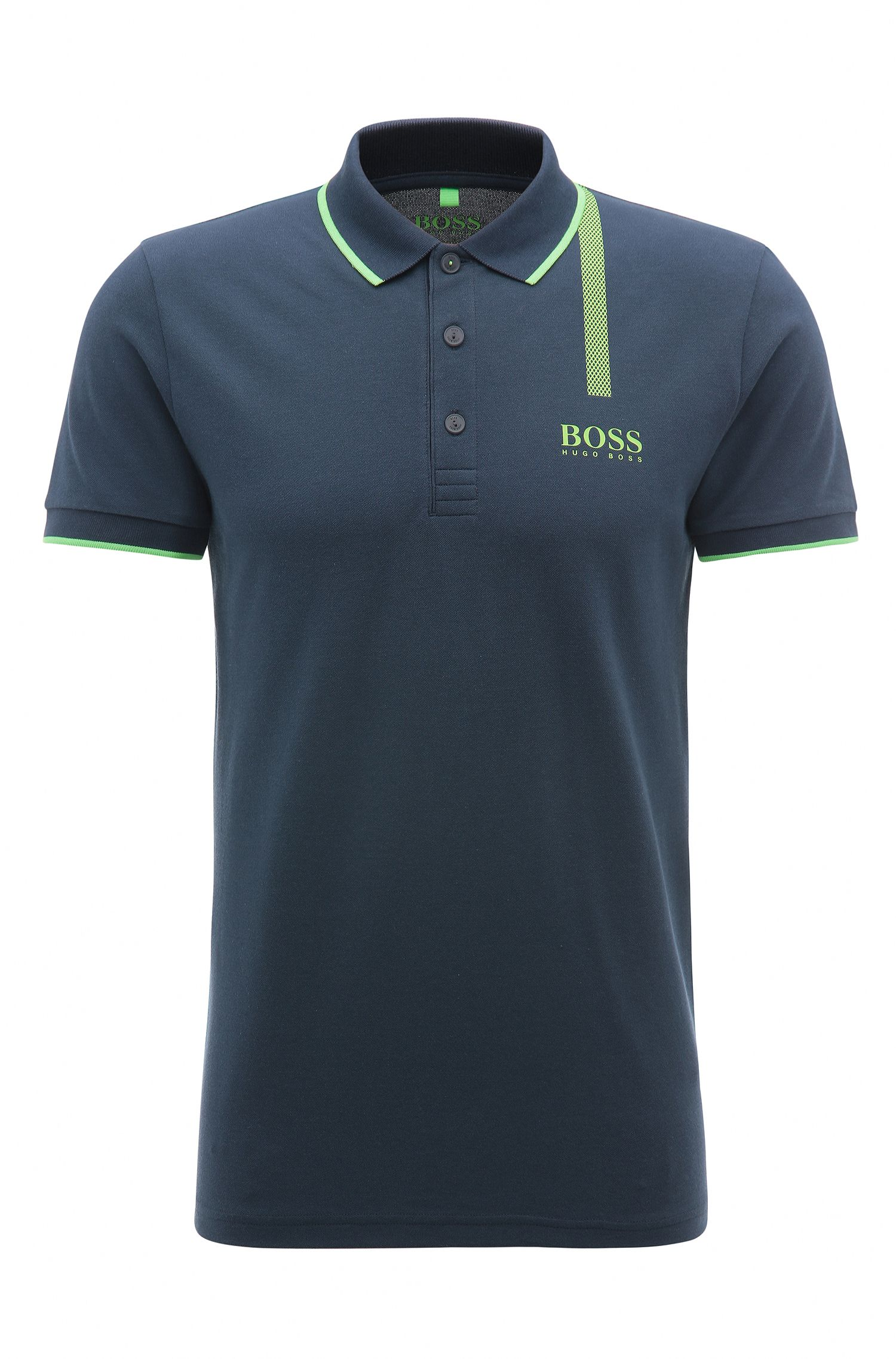 Stretch Cotton Graphic Polo, Slim Fit | Paule Pro