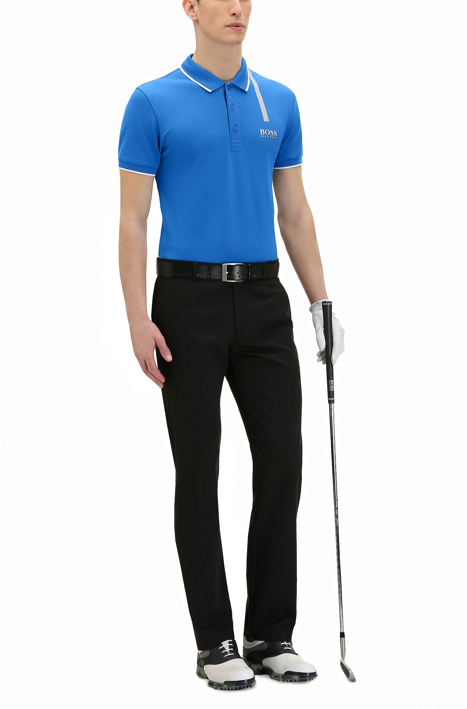 Stretch Cotton Graphic Polo, Slim Fit | Paule Pro