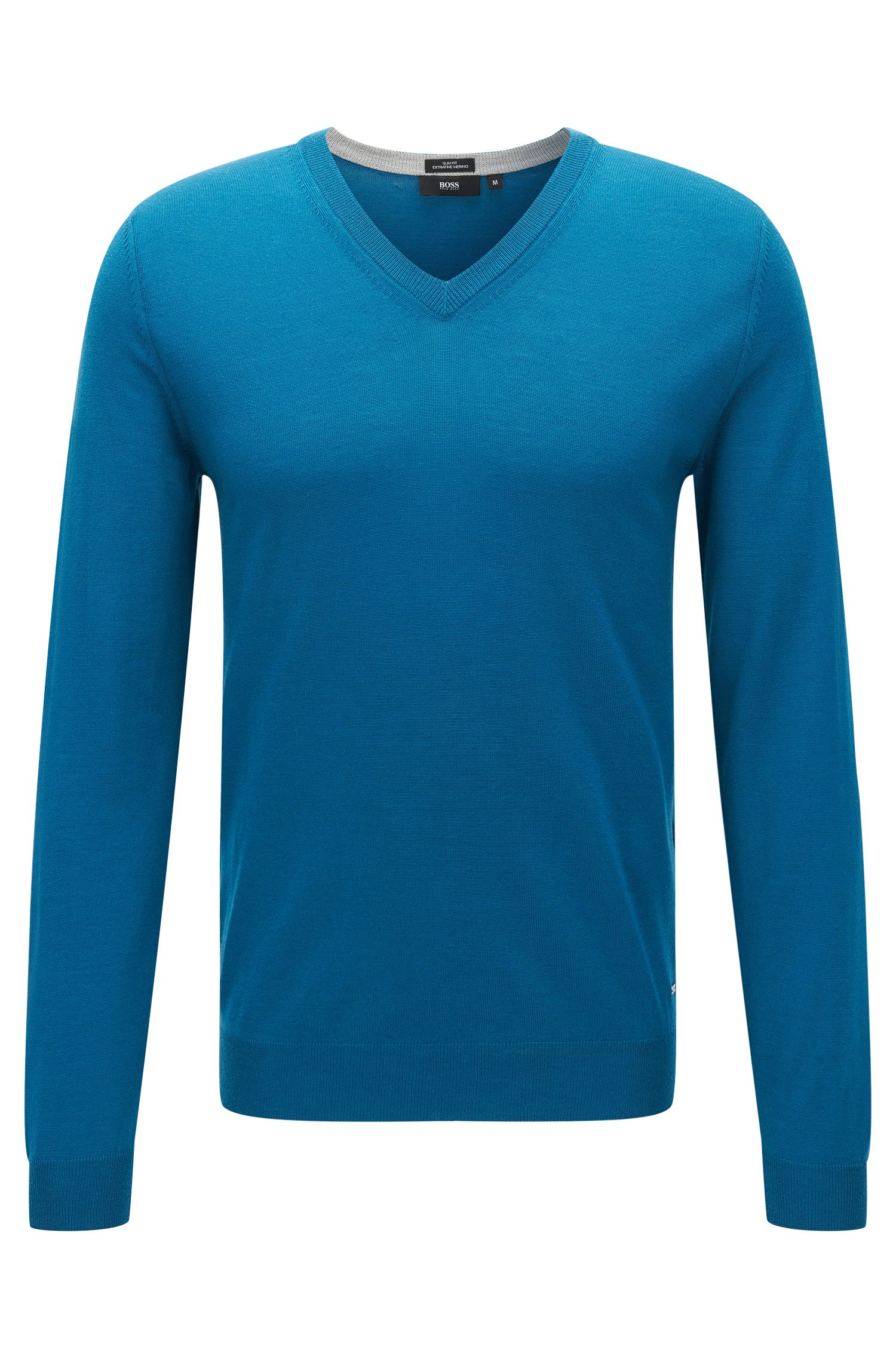 Extra-Fine Merino Wool Sweater, Slim Fit | Melba M