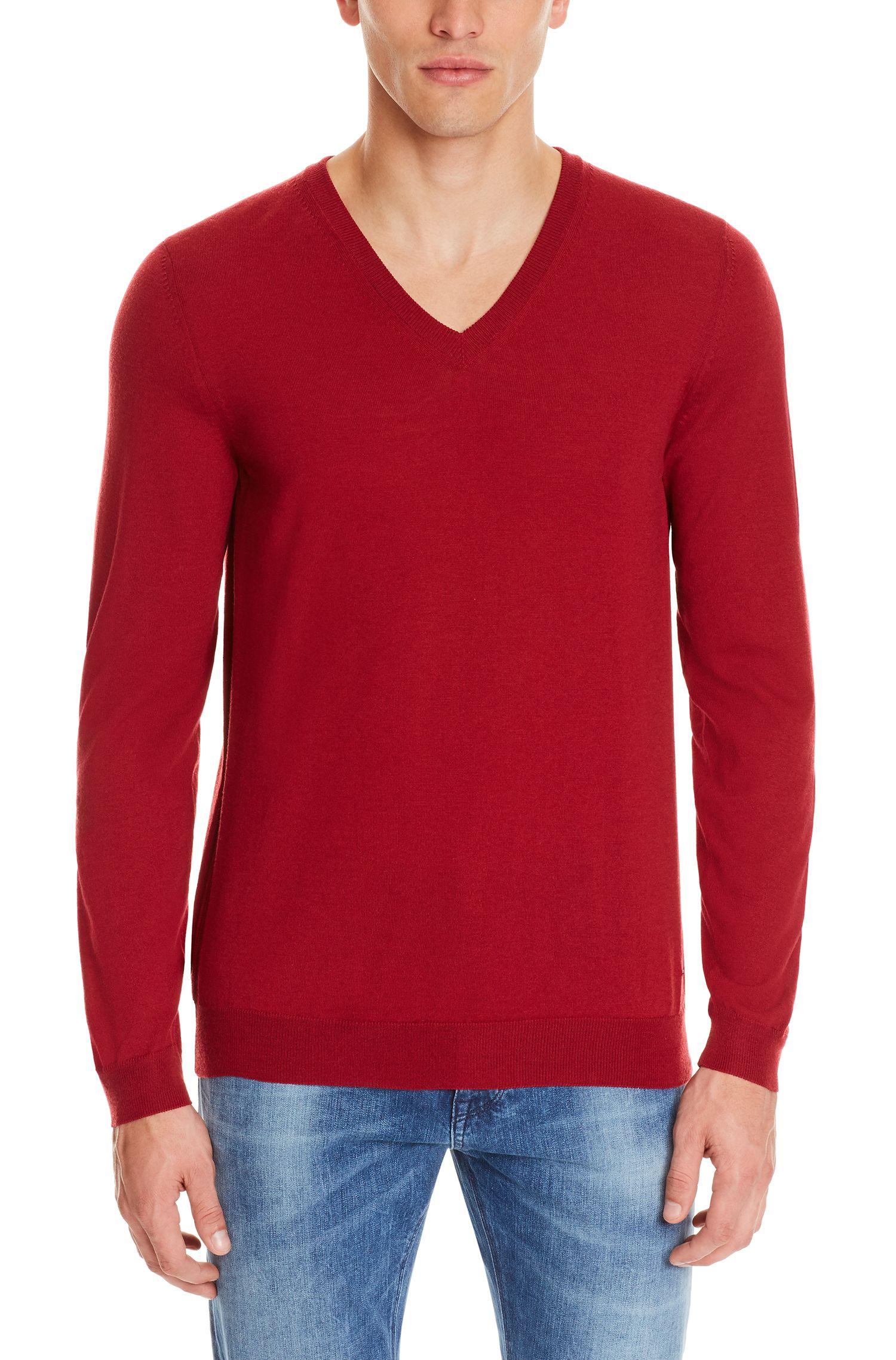 Extra-Fine Merino Wool Sweater, Slim Fit | Melba M