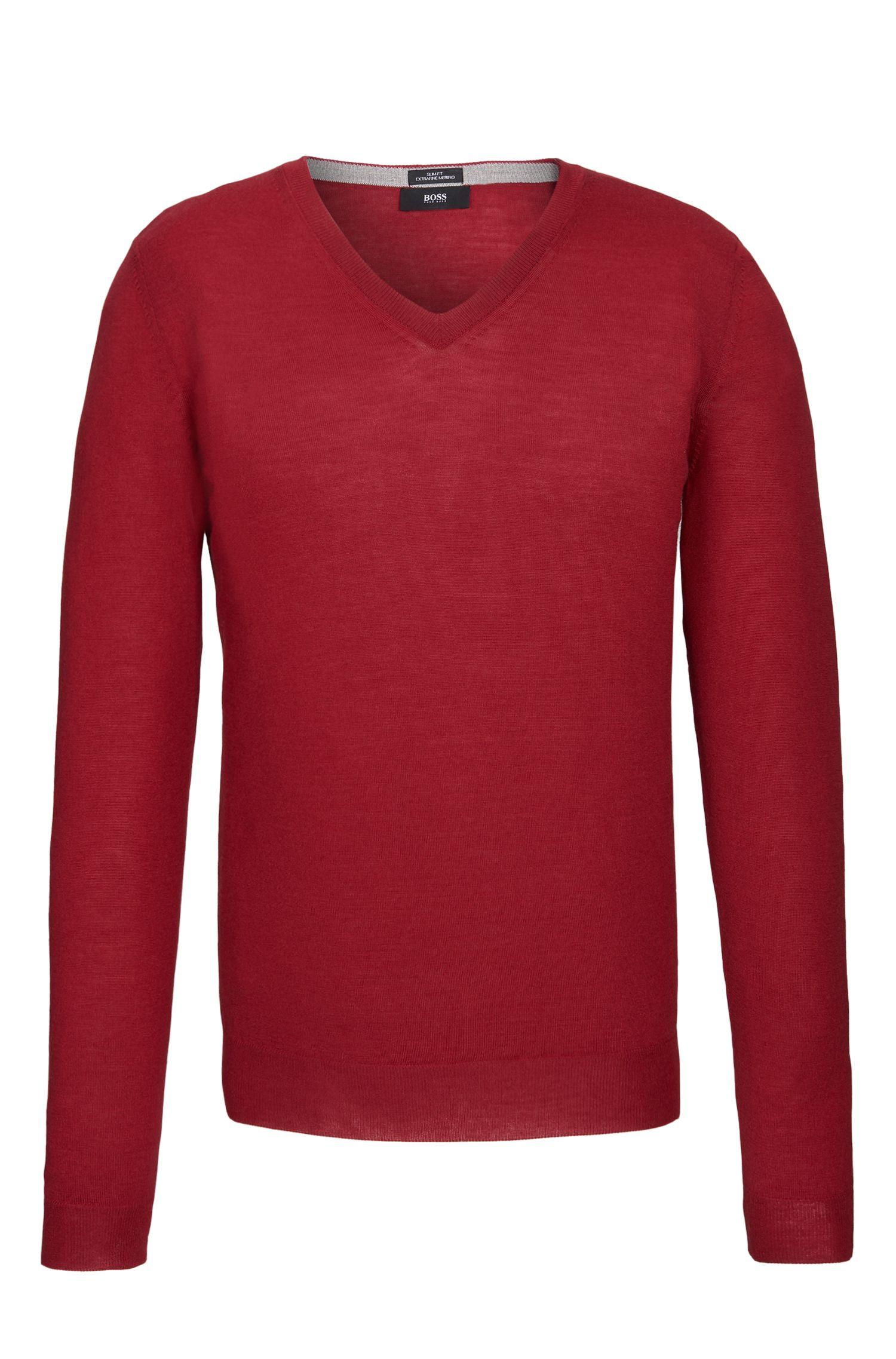 Extra Fine Merino Wool Sweater, Slim Fit | Melba M