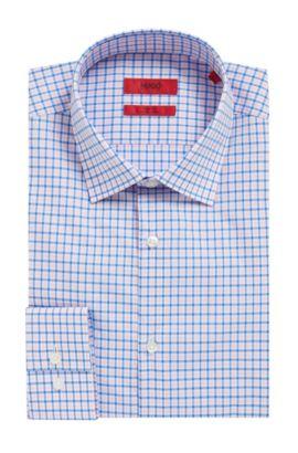 Checked Easy-Iron Cotton Dress Shirt, Slim Fit | C-Jenno, light pink