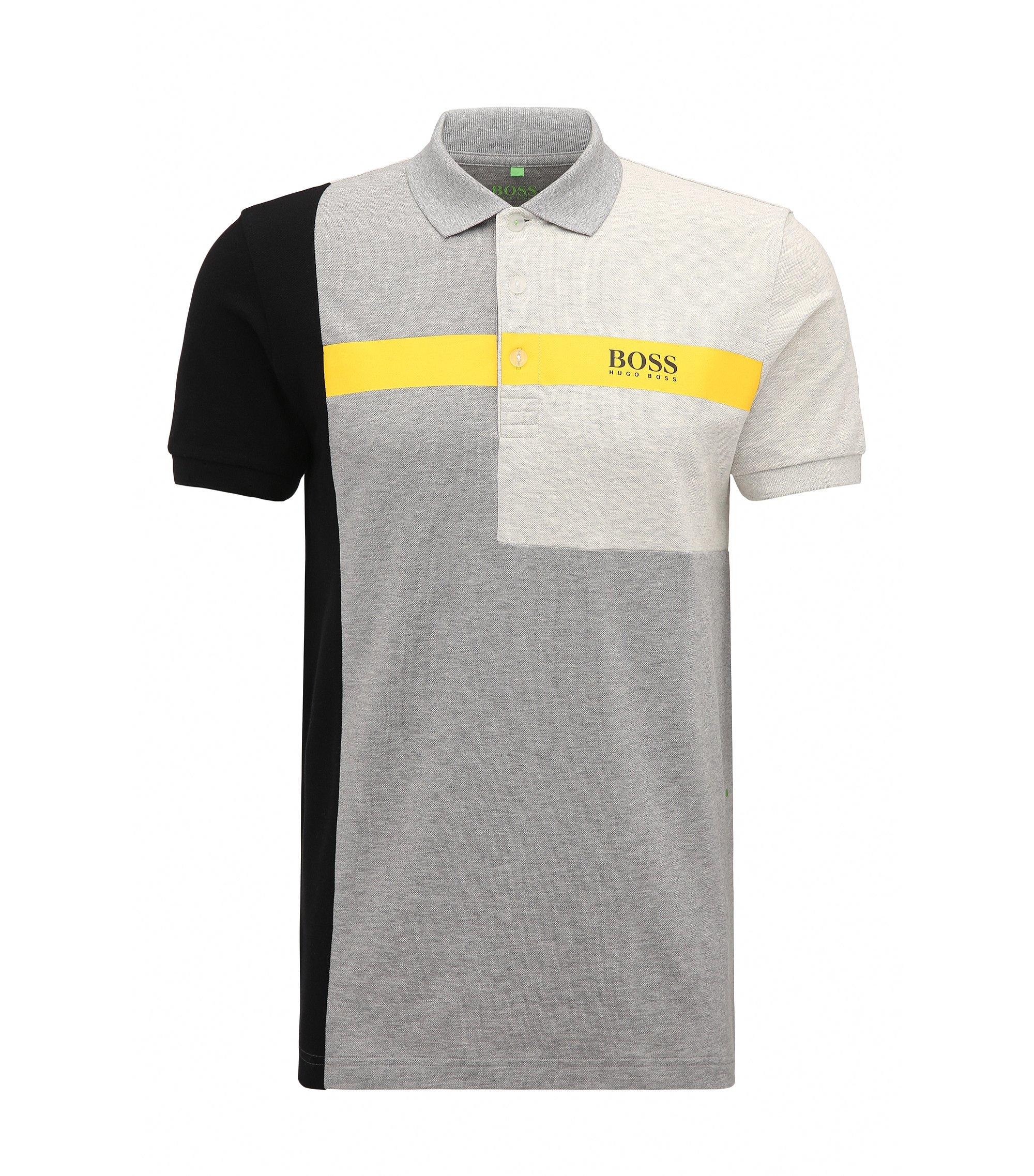 Stretch Cotton Polo Shirt, Regular Fit | Paddy Pro, Light Grey