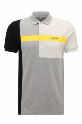 'Paddy Pro' | Regular Fit, Stretch Cotton Polo Shirt, Light Grey