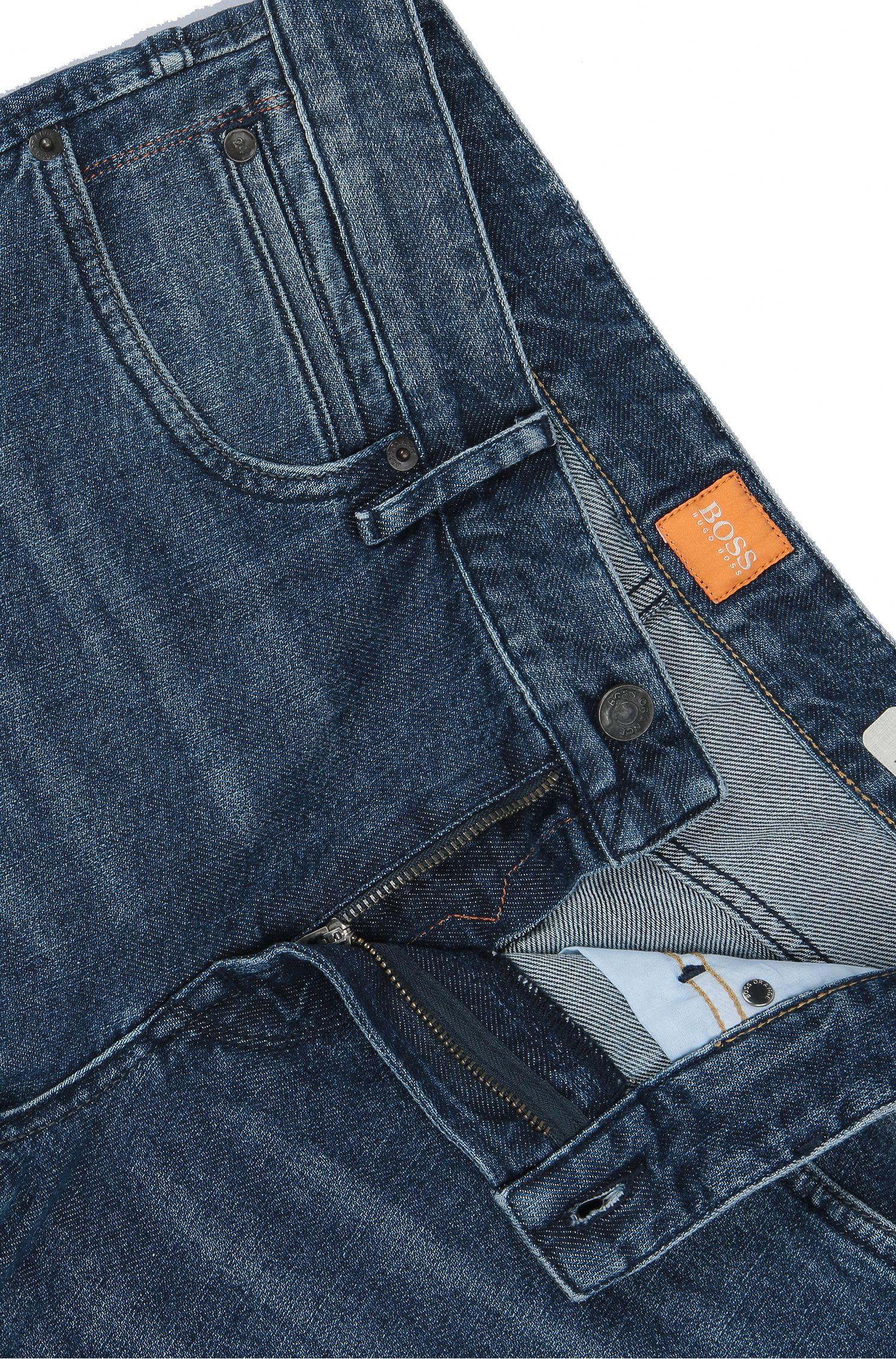 Stretch Cotton Jean, Regular Fit | Orange Barcelona, Dark Blue